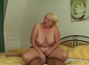 Mother in law sucks cock