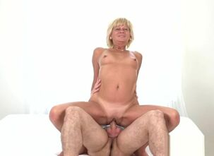 Blonde granny sex