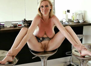 Mature wife spreading pussy