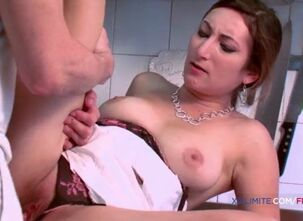 French milf slut with big boobs fucked in the ass by her daughter boyfriend