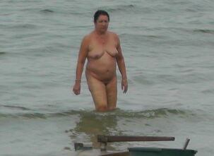 Mature beach nudist